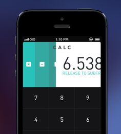 Gesture Operated IOS Calculator App UI Design