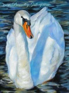 """The Swan"" Original oil painting by Chris Brandley. www.BrandleyGallery.com"