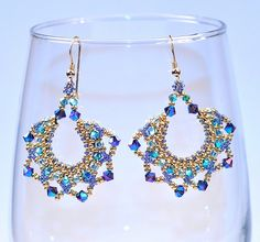 Right angle weave seed bead earrings | Flickr - Photo Sharing!