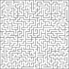 Free printable Word Search and Sudokus: Maze 19