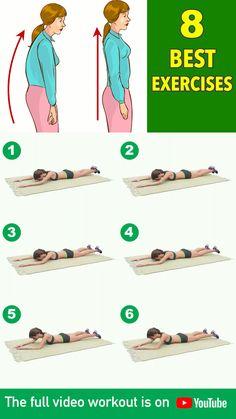 Straighten Your Spine 8 Best Posture Exercises &; Straighten Your Spine 8 Best Posture Exercises &; Straighten Your Spine - Fitness Workouts, Gym Workouts Women, Gym Workout Videos, Gym Workout For Beginners, Abs Workout Routines, Fitness Workout For Women, Fitness Tips, Fitness Motivation, Daily Exercise Routines