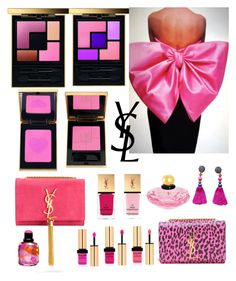 """""""YSL Pink"""" by dezaval ❤ liked on Polyvore featuring Yves Saint Laurent"""