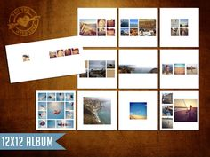 12x12 Instagram Layflat Album Template for by 4UWLove on Etsy, $25.00