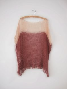 COLORBLOCK tunic | merlot  #hendriklou  Mix of essence & either romantic or 1B . Mohair.