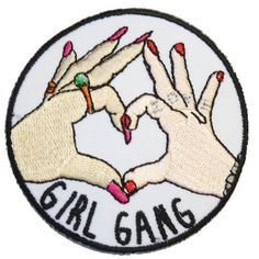 Mädchen-Bande-Eisen auf Patch Sticken Nähen von ExtremeLargeness