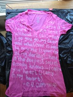 Create your own custom tee with glue and dye