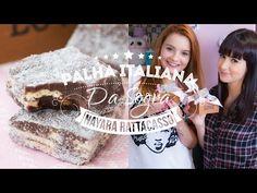 palha italiana (brigadeiro + bolacha + açúcar de confeiteiro)