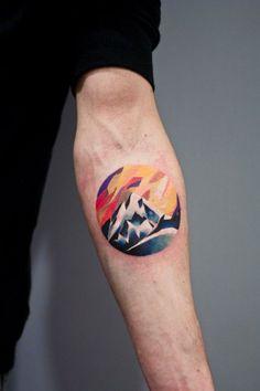 Mountains #WaterColorInk #Watercolor #Ink #MountainInk