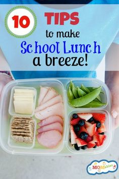 Love these packing tips that make lunch quick and easy.