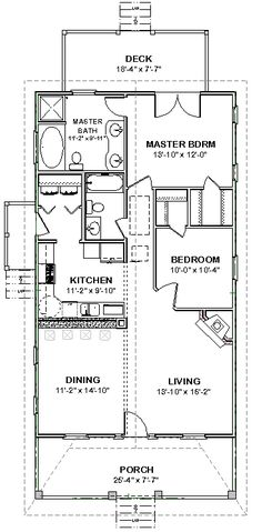 Architecture Design Of Small House 14 x 40 floor plans with loft | model 107 16x40 640 8 windows ¾