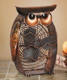 Deco Breeze Owl Metal Sculpture w Motorized Blade Fan Fan Decoration, Owl Decorations, Owls Decor, Metal Fan, Beautiful Owl, Beautiful Things, Wise Owl, Owl House, Animal Design