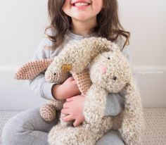 Squishy stuffed Easter bunny rabbits are easy to hug