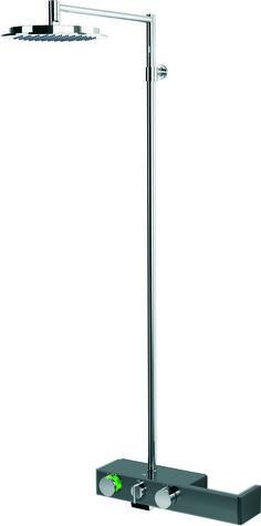 (Hinta 1059 €) Oras Signa 6391-15 sadesuihkusettiin kuuluu harmaa termostaattinen suihkuhana, krominvärinen sadesuihku (jossa kalkkivapaa siivilä Ø 238 mm ja yläsuihkun kulma säädettävissä) sekä suihkuputki. Termostaattinen sadesuihkuhana reagoi tulo