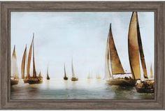 Golden Sails Wall Art - Sailboat Wall Art - Nautical Art - Framed Art - Framed Art Prints | HomeDecorators.com