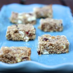White Chocolate, Cranberry, Oatmeal Bars