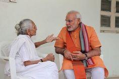 Prime Minister Narendra Modi met his mother in Gandhinagar to seek her blessings as he turns 64 today.