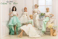 Crème de Mint 05 Fashion set for Fashion by AquatalisBoutique Barbie Costume, Barbie Dress, Barbie Clothes, Fashion Royalty Dolls, Fashion Dolls, Barbie Tumblr, Catwalk Design, Barbie Fashionista Dolls, Beautiful Barbie Dolls