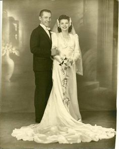 My grandparents on their wedding day (late 40s)