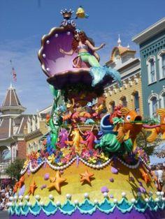 Festival of Fantasy Parade Ariel Little Mermaid Float #WDW #MagicKingdom