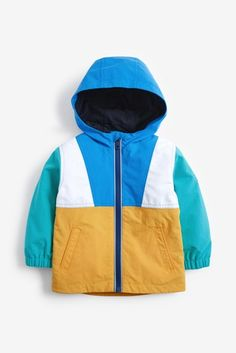 Colourblock Shower Resistant Anorak (3mths-7yrs) Nike Jacket, Rain Jacket, Future Clothes, London Spring, Spring Jackets, Business For Kids, Easy Wear, How To Look Better, Men Styles