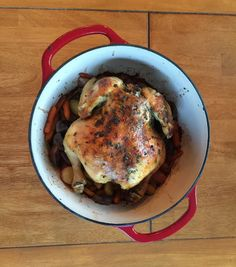 Roast Chicken with Root Vegetables #recipe via Gotham Kitchen http://www.yummly.com/recipe/Roast-Chicken-With-Root-Vegetables-1348339