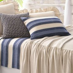 Pine Cone Hill Montego Stripe Indigo Pillow Shams