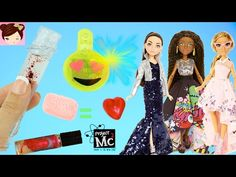 Project Mc2 Dolls & Experiments - DIY Lava lip gloss - Soap Gummies Emoji LED Earrings - Titi Toys - YouTube