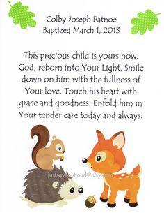 A blessing for a little boy - Baptism Gift Kids Wall Art Baby Boy Art Decor by JustSayItOutLoud, $12.00
