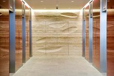 Kohn Pedersen Fox, 20 Gresham St - carved travertine