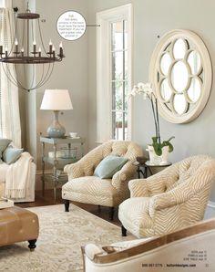 Living room - love the neutral zebra.