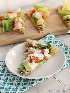 Cobb Salad Pizza. Ahhh, this looks good.