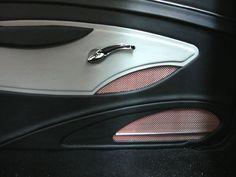 1967 Chevelle SS Custom Restoration Street Rod Interiors door panels black white and red mesh