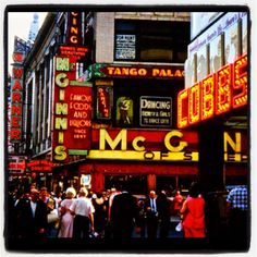 Vintage Times Square NYC Photo 1950s INSTAGRAM by Christian Montone, via Flickr
