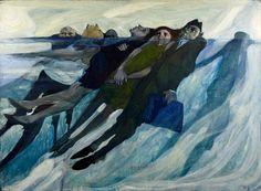 US figurative expressionist painter Renée Radell, The Tide, 1966 #womensart