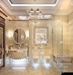 Luxe designer tiffany mirror bathroom vanity set sharing - Decor oriental design interieur luxe antonovich ...