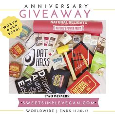 Sweet Simple Vegan Turns 2: Birthday Giveaway, TWO WINNERS! Prizes worth over $260!