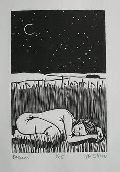 'Dreams' Linocut Di Oliver