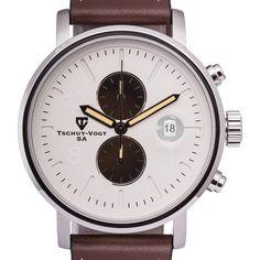 Tschuy-Vogt M60 Patton Men's Chronograph Watch Super Luminova 22mm Genuine Strap