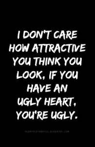 Disregard for others is a freaking ugly selfish person.