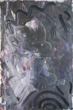 Stella Corkery: Untitled 79; oil, spray paint and pigment on readymade canvas and stretcher, 610mm x 910mm
