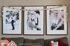 Wedding Shower Decorations - put engagement photos of Carli and Cody out in cute frames
