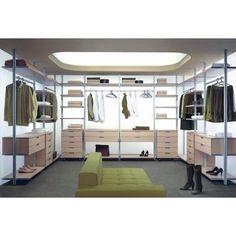 OpenSys Угловые гардеробные комнаты U (Три стены)
