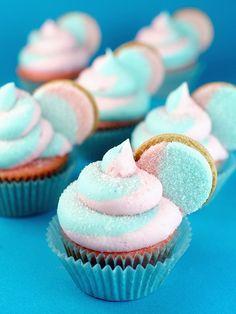 Cotton Candy Oreo Cupcakes More