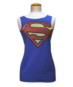 SUPERMAN CUSTOM CUT T-SHIRT - VINTAGE LOGO