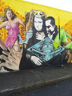 Arte urbano en Puerto Rico. Calle Cabrera en Río Piedras