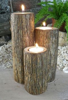 Outdoor lighting ideas for backyard, patios, garage. Diy outdoor lighting for front of house, backyard garden lighting for a party Homemade Candles, Homemade Crafts, Diy Crafts, Decor Crafts, Handmade Home Decor, Handmade Ideas, Garden Projects, Wood Projects, Outdoor Lighting