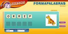 Formapalabras. En esta actividad, los niñ@ s deben ordenar las letras para obtener el nombre del animal que aparece