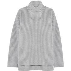 Rochas Ribbed wool and angora-blend sweater (960 NZD) ❤ liked on Polyvore featuring tops, sweaters, jumpers, rochas, angora sweater, turtleneck tops, angora wool sweater, turtle neck tops and wool sweater