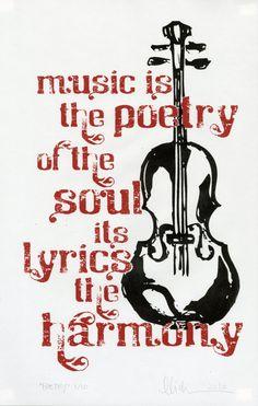 Music to the Soul 13x17 Handpulled Screenprint by dutchfireball, $24.00