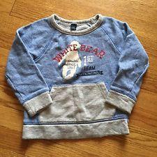 Baby Gap Boys Long Sleeve Shirt Sweatshirt 3 3T Mountain Patrol Euc Blue